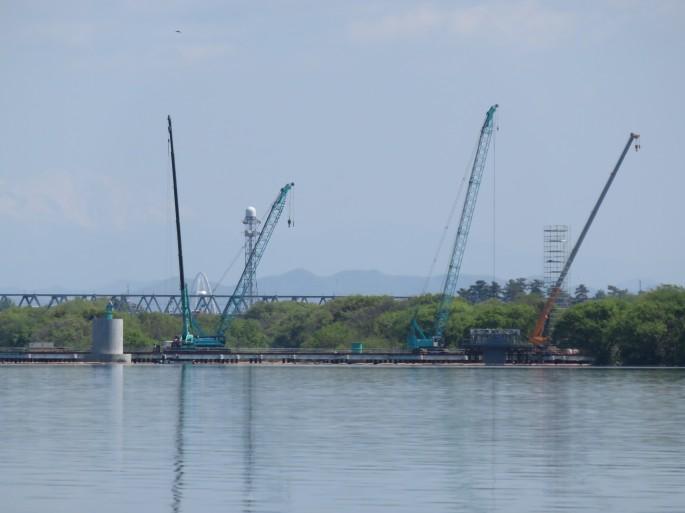 建設中の新濃尾大橋