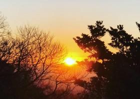 金華山 初日の出