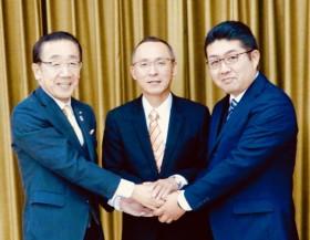 松井市長・藤本さん全力で頑張りましょう!