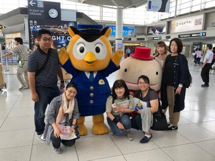 中部国際空港駅にて集合写真